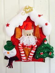 Enfeite de Natal (Pina & Ju) Tags: natal snowman handmade estrela artesanato noel guirlanda neve manual feltro patchwork arvore papainoel doce decorao presente duende tecido enfeite elfo