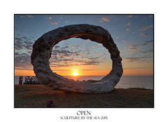 Sculpture by the Sea - Open (sugarbellaleah) Tags: ocean morning travel light sea sculpture sunlight seascape abstract art texture tourism public bondi festival rock sunrise circle concrete design scenery pattern open unique object australia exhibit tourist event round sculpturebythesea annual shape showing