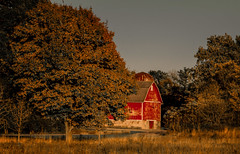 Autumn Charm on the Farm (Carl's Captures) Tags: cabadil leroyoakesforestpreserve stcharlesillinois kanecounty farm redbarn history historical autumn fall landscape rural trees foliage sunset evening dusk goldenhour restored preserved outdoors nature chicagoland relic nikond5100 tamron18270 lightroom5 photoshopbyfehlfarben thanksbine silo charm nostalgia