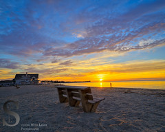 Early morning on Bay View Beach (Singing With Light) Tags: november autumn fall colors sunrise reflections photography pier sony ct milford 7th 2015 mirrorless bayviewbeach sonykitlens sony16mm28 singingwithlight singingwithlightphotography gulfpond alpha6000 sonya6000 lightjj buckinghamavenua