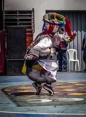 Tiptoes (Martín Córdova Japay) Tags: blue red black peru colors hat yellow dance lima dancer scissors tradition ayacucho huancavelica apurímac