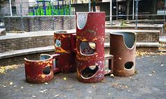 Playground Off Essex Street (neilsonabeel) Tags: city nyc urban film playground manhattan lowereastside rangefinder analogue yashica yashicaelectro35 yashicaelectro35cc