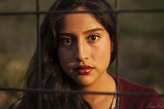 End (SineCá) Tags: light red portrait luz mexico atardecer sweater twilight natural mexican brunette fin browneyes amateur suéter nikond40