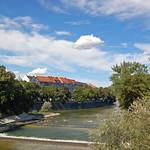 München - Seitenarm der Isar - von der Maximilian-Brücke (1) thumbnail