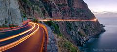 Chapman's Peak Car Trails (Panorama Paul) Tags: panorama southafrica dusk westerncape chapmanspeakdrive nikkorlenses nikfilters carlighttrails nikond800 wwwpaulbruinscoza paulbruinsphotography spectacularmountainpasses