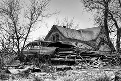 Abandoned (Explored 2 Dec 2015 #217) (Mike Matney Photography) Tags: november bw house abandoned car wisconsin canon rust midwest decay farm 2015 crivitz eost5
