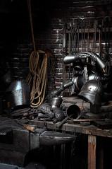 Bowman E. Wright Blacksmith (Seeing Visions) Tags: metal us orlando unitedstates florida harrypotter rope tools armor fl themepark workbench anvil 2015 universalstudiosorlando diagonalley armorer raymondfujioka bowmanewrightblacksmith