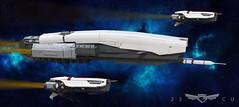 UNEN Magellan (John Moffatt) Tags: lego space ship shiptember surprise muthafucka spaceship destroyer magellan unen une 23c 23rd century spacecraft star white earth