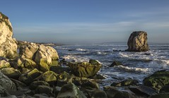 Pacific Afternoon (corybeatty) Tags: california usa waves sea ocean rocks beach pacific coast light afternoon clouds landscape nature water sky