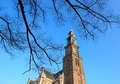 Bell tower of Westerkerk, Amsterdam (Vicente Navarro) Tags: amsterdam netherlands church tower canal westerkerk