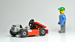 Lego Kart (MOC) (hajdekr) Tags: lego legotechnic kart gokart race racer racing speed fast vehicle automobile car gocart racingmachine machine superkart supersport sport engine motor