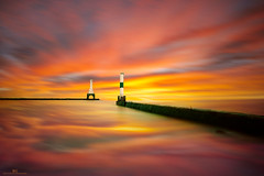 M A G I C   H O U R (gurungbijaya88) Tags: goldenhour magichour clouds reflections nature sky landscape outdoor fineart usa lighthouse lake lakemichigan water longexposure photograph peaceful flickr