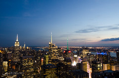 New York City. Manhattan downtown skyline at night (Synth 101) Tags: aerial america architecture buildings business center central city cityscape colorful deck downtown dusk empire evening exterior globe hudson illuminated landmark manhattan metropolis metropolitan midtown modern newyork night ny nyc observation office panorama panoramic park river rockefeller scene scenic sky skyline skyscraper state states tourist trade travel united urban usa view world
