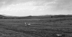 Drew and Scott in the flare (in Puchacz sailplane) (i-lenticularis) Tags: august2016 p67ii xp2 filmscan instructorcheck gliding aviation bunyanairfield ilfordxp2 75f45lens