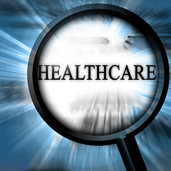 healthcare (stevennitsberg) Tags: ads being cardiology care classifieds clinic disease doctor health healthcare healthy hospital ill illness illustration magnifier magnify medical medicine newspaper paper sick well wellbeing wellness