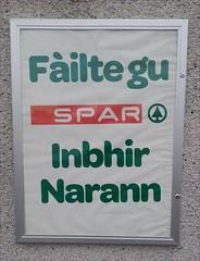 Filte gu Spar Inbhir Narann (gurnnurn.com pictures) Tags: gaelic gidhlig nairn spar uk nairnshire scotland