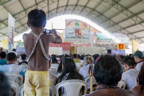 Auditório de reuniões da Caravana em Defesa do Rio Tapaós.