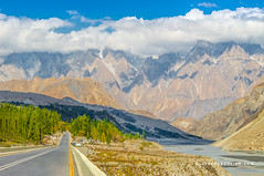 Road to Gulmit - Hunza Valley - Gilgit Baltistan - Pakistan (zeeshanbsheikh) Tags: vrii baltistan clouds gilgit mountains nikon pakistan road scenery landscape gulmit valley earth glacier nature