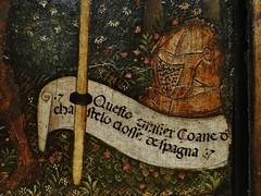 1432 - 'ex-voto to St. Francis of Assisi' (Antonio Orsini), Ferrara, Muse des Arts Dcoratifs, Paris, France (roelipilami) Tags: 1432 ex voto exvoto st saint francis assisi francisco franz franciscus francois assise ferrara ferrare antonio orsini carminati coronation master museum muse des arts les dcoratifs paris armor armour armatura armadura harnas rstung shield knight embrace flowers renaissance painting nun bascinet visor lance