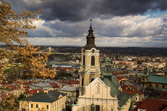 Przemysl - view from castle (cromgrze) Tags: przemysl poland castle clouds architecture outdoor tower landscape