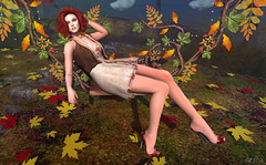 Autumn Leaves (Anita Armendaiz) Tags: aphorism applier astralia autumn bench catwa head collabor88 gacha glam affair hair kustom9 leaves life maitreya mesh rare second truth fashion