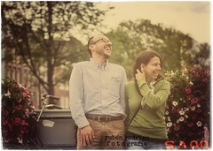 Just we two people in this perfect place (Mister Blur) Tags: twopeople perfectplace 13years happy couple phototakenbymyson amsterdam voyage yesterday today tomorrow everandalways nikon d7100 50mm 18 love bokeh depthoffield