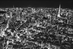 TOKIO (mon_masa) Tags: monochrome bw blackandwhite tokyo cityscape city cityview nightphoto nightscape nightview night japan architecture building tokyotower