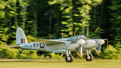 Mosquito Into the Late Day Light (4myrrh1) Tags: mosquito flyingprop 2016 aircraft airplane aviation airshow airplanes airport grassstrip wwii ww2 fighter bomber british legendary epic canon 7dii ef100400l