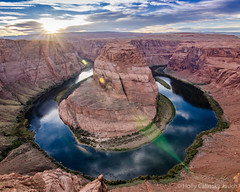 Setting Sun at Horseshoe Bend (Holly Calinsky Jauch) Tags: coloradoriver horseshoebend arizona