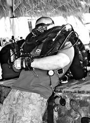 Preparing the Meg (H2O Divers Dahab) Tags: meglodon ccr rebreather