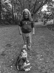 DSC02440-3 (johnjmurphyiii) Tags: 06416 autumn beagle connecticut cromwell fletch kerry originaljpeg shelly sonycybershotdsch90 usa yard brother dog johnjmurphyiii