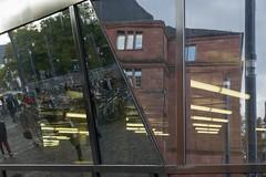 Ansicht und Durchsicht, Bibliothek in Freiburg i. Br. (hjoachim1) Tags: freiburg bibliothek reflektionen refections