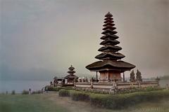 Puru Bratan Water Temple located at the shores of Lake Bratan in the mountains near Bedugul. - Bali Indonesia (katjakarumoholm) Tags: building traveling nikon bedugul temple indonesia bali purubratan