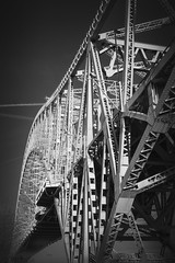 Side On (Martin Beecroft Photography) Tags: runcorn bridge river mersey crossing suspension road monochrome