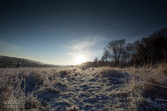 Frost Landscape (Ben Brotherton) Tags: landscape frost england nature sunrise sunstar canon wide angle colours winter autumn cold sun amazing ben brotherton photographer