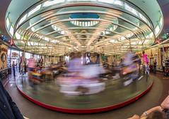 Looff Carousel (matman73072) Tags: santacruz boardwalk amusementpark rides looff carousel motionblur fisheye