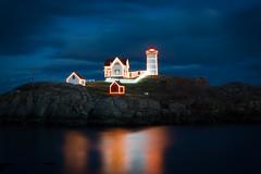 Small-9541 (kayaker72) Tags: nubblelight nubblelighthouse lighthouse christmaslights holidaylights maine