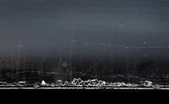 Window. Shards of glass are shining (Lina Molodaya) Tags: train travel ukraine railway rain window waterdrop minimalism macro bokeh art shards ends glass details texture abstract autumn lines shine sky