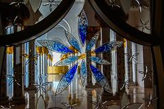 details from Sheikh Zayed mosque (Vagabundina) Tags: nikond5300 uae unitedarabemirates mosque sheikhzayedmosque abudhabi middleeast islamicart islam glass