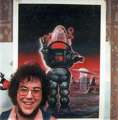Bill Selby and his Robby the Robot Famous Monsters cover (Tom Simpson) Tags: billselby robbytherobot famousmonsters illustration art painting vintage 1977 1970s cover magazine