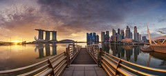 ~ Golden Marina Bay ~ (Tan Andy (Sorry if I did not reply)) Tags: panorama pano distortion distort marina marinabay mbs marinabaysands baysands cbd centralbusinessdistrict singapore building architecture