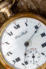 Tempus Fugit (grantg59@xtra.co.nz) Tags: timepiece dial watch pocket clock hand trans pacific antique old brass