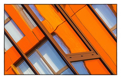 Living within Art (Andy J Newman) Tags: london england unitedkingdom gb dockland urban development art vibrant colour color artistic colorefex nikon d500 window pattern