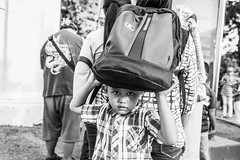 bag (Laixiang Pow) Tags: street photography photographer bw black white monochrome malacca melaka malaysia asia asian leica urban people culture heritage kid male boy day laixiangpow canon