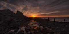 Sunrise (MarkWaidson) Tags: lindisfarne holyisland castle sunrise beach shore clouds sky imagesfromthedarkside waidson