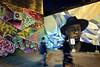 in motion (Ian Muttoo) Tags: img20161118182010edit ontario canada gimp toronto night graffiti motionblur street handheld graffitialley