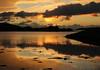 Kennacraig Sunset (Raphooey) Tags: gb uk scotland west coast highland highlands atrbert argyll bute mull kintyre kennacraig ferry prot terminal caledonian macbrayne water sea seawater wave waves cloud clouds sun sunset evening dusk sundown canon 70d