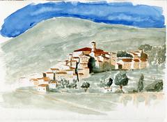 Bar sur loup 2 couleurs (ybipbip) Tags: paint painting peinture pintura landscape paysage watercolor watercolour acuarela aquarell akvarell acquerello