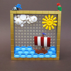 Sailing to new horizons (-Wat-) Tags: lego absbuilderchallenge naval sea ship pirate