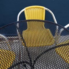 table for three (msdonnalee) Tags: chair chaise silla cadeira stuhl yellowchair tableandchair table